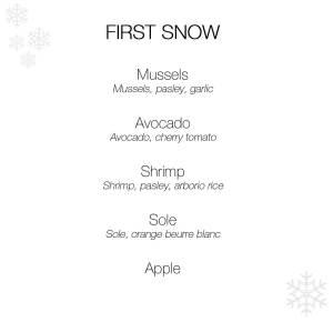 first snow menu