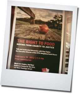 right to food poster