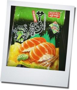 salmon sushi chips