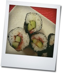 ume and cucumber roll