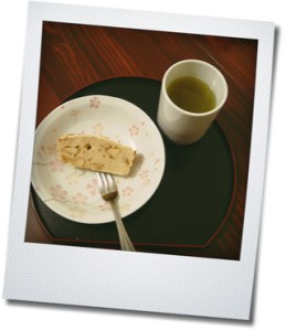 apple cake and tea