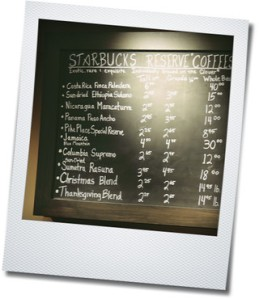 starbucks menu