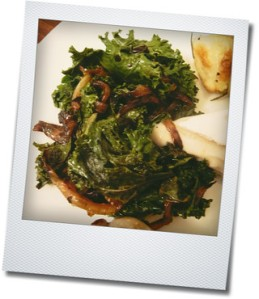 kale and caramelized onion with goat cheese melt